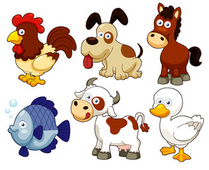 illustration of farm animals cartoon