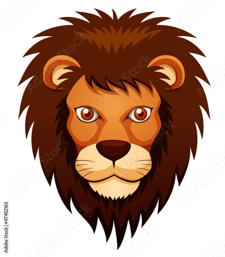 illustration of Lion face