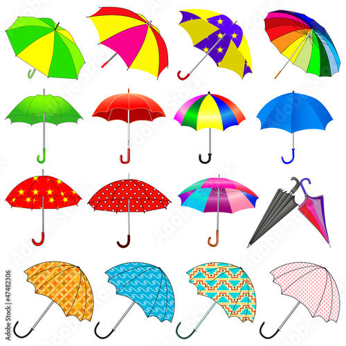 set of umbrellas from the rain