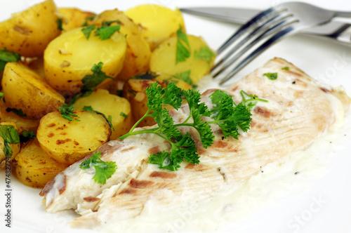 filet de daurade et pommes de terre pompadour 7