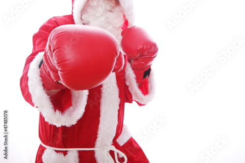 Santa Claus Boxing - 47485178