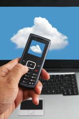 Cloud computing and hand phone technology