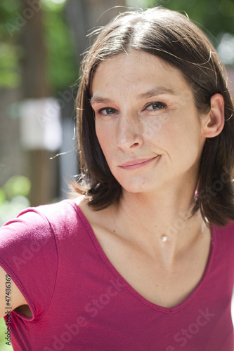 suspicious young woman judging the situation