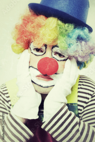 Trauriger Clown