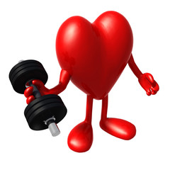 heart with arms and legs does weight training