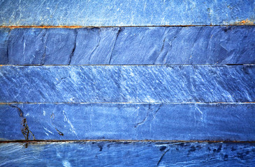 Close up of a blue brick-wall, texture background.