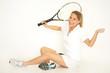 Tennisspielerin gewinnt