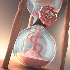 Hourglass Business. Time is money.