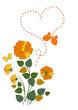 Butterflies flies over roses