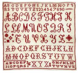 Vintage stitched alphabet