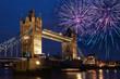 London, Tower Bridge, Feuerwerk, Silvester