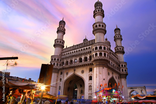 Papiers peints Inde 400 Year old historic Charminar in Hyderabad India