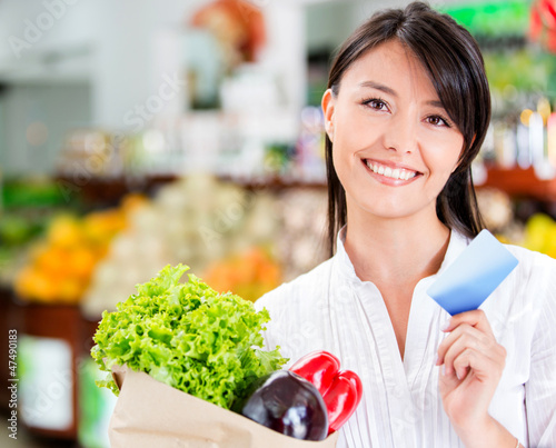 Shopping woman with credit card