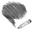 Pencil shading. Hand-drawn. Doodle