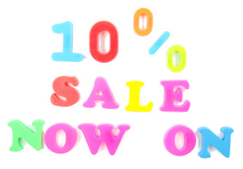 10% sale now on written in fridge magnets