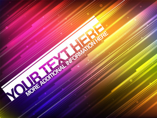 Abstract Glowing Banner With Colorful Stripes