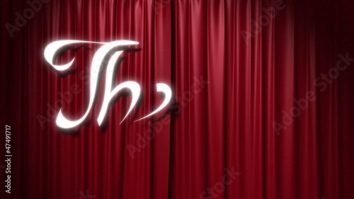 "closing red curtain with a title ""the end"""