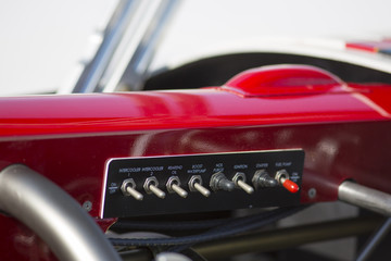 Hot Rod, detail of the control panel