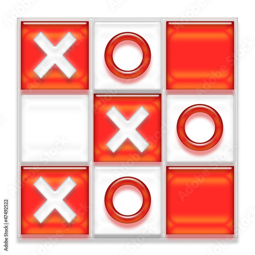 XOXO kisses in style of tic-tac-toe game