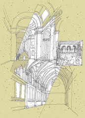 Sketching Historical Architecture in Italy: Assisi