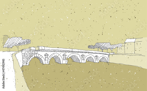 Sketching Historical Architecture in Italy: Bridge, Rimini