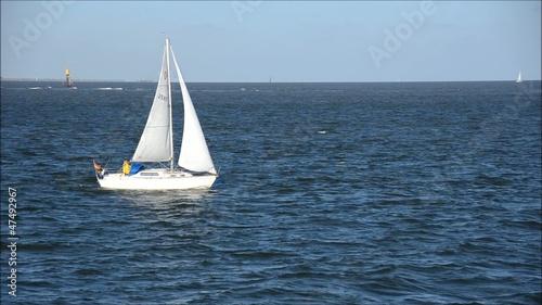 Fototapeten,segelboot,boot,north sea,meer