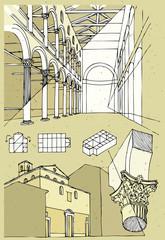 Church in Rome - interior, exterior, detail