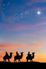 Reyes Magos Estrella de oriente.