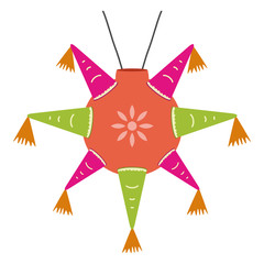color mexican pinata, shape star for parties