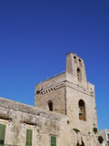 The norman bell tower in Otranto in Italy poster
