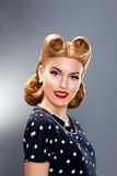 Fototapete Punktieren - Haarschnitt - Frau