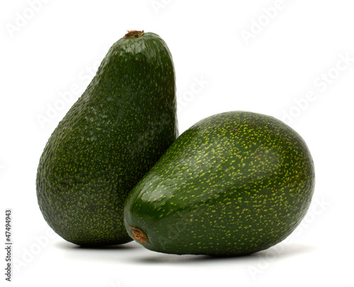 Avocado isolated on white background.