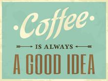 Style rétro affiche de café