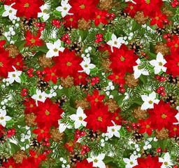 Christmas seamless background. Vector illustration.