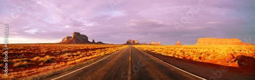 Route Américaine au crépuscule