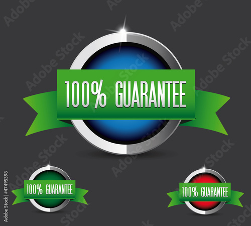 100 percent guarantee button set