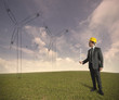 Wind turbine energy project
