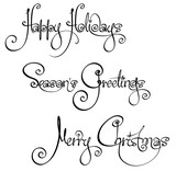 Three Christmas Time Handwriting Wishes