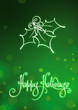 Happy Holidays Card, EPS v10 file has red, blue & green versions