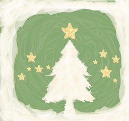 Christmas tree artistic background