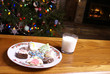 Christmas Cookies and Milk Fireplace Tree