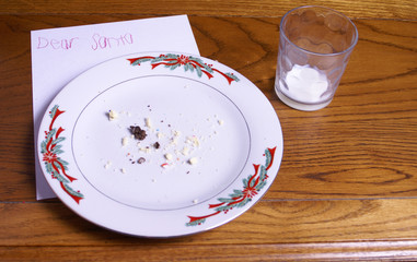 Christmas Cookie Crumbs and Santa Note