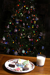 Christmas Cookies Milk and Tree