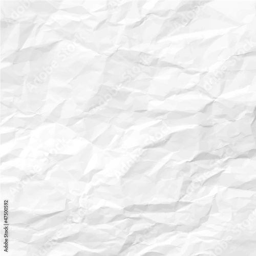 Texture of crumpled paper. Vector