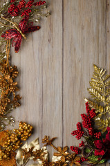 Christmas decorations frame