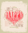 Retro Valentine greeting card design EPS 10