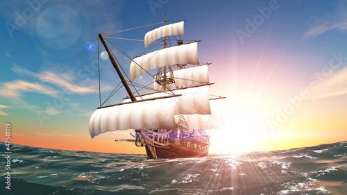 Leinwandbild Motiv 帆船