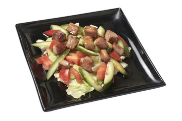 Salad maguro sarada with slices of tuna