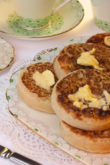 Tea & Toasted Crumpets - Breakfast