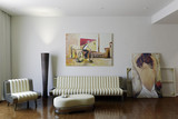 Modern Room with Artwork I
